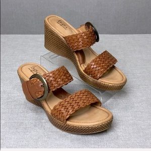 BOC Born Concepts Double Strap Woven Wedge Sandal
